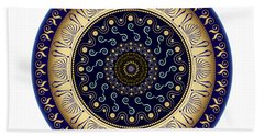 Beach Towel featuring the digital art Circularium No 2648 by Alan Bennington