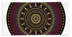 Beach Towel featuring the digital art Circularium No 2650 by Alan Bennington
