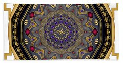 Beach Towel featuring the digital art Circularium No 2652 by Alan Bennington