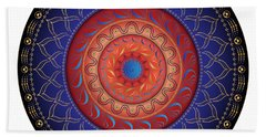Beach Towel featuring the digital art Circularium No 2654 by Alan Bennington