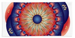 Beach Towel featuring the digital art Circularium No 2655 by Alan Bennington