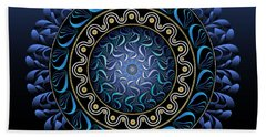 Beach Towel featuring the digital art Circularium No 2656 by Alan Bennington