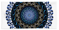 Beach Towel featuring the digital art Circularium No 2657 by Alan Bennington