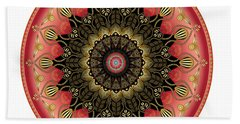Beach Towel featuring the digital art Circularium No 2660 by Alan Bennington