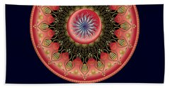 Beach Towel featuring the digital art Circularium No 2662 by Alan Bennington
