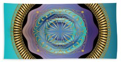 Beach Towel featuring the digital art Circularium No 2663 by Alan Bennington