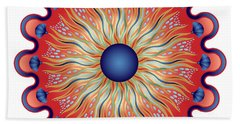 Beach Towel featuring the digital art Circularium No 2664 by Alan Bennington