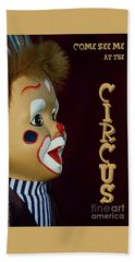 Beach Towel featuring the photograph Circus Clown By Kaye Menner by Kaye Menner