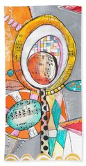 Circus Two Beach Sheet by Karin Husty