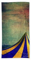 Circus With Distant Ships II Beach Towel by Silvia Ganora