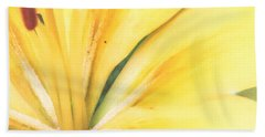 Citrine Blossom Beach Towel
