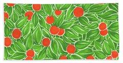 Citrus Pattern Beach Towel