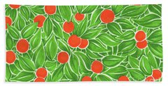 Beach Towel featuring the drawing Citrus Pattern by Cindy Garber Iverson