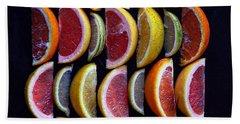Wavy Citrus Lineage Beach Sheet