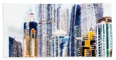 City Abstract Beach Towel