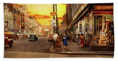 Beach Towel featuring the photograph City - Amsterdam Ny - The Lost City 1941 by Mike Savad