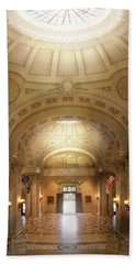 Beach Towel featuring the photograph City - Annapolis Md - Bancroft Hall by Mike Savad