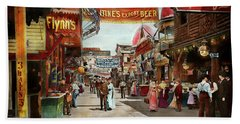 Beach Towel featuring the photograph City - Coney Island Ny - Bowery Beer 1903 by Mike Savad