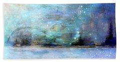 Beach Towel featuring the digital art City Dream by Linda Sannuti