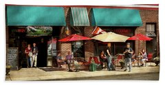 Beach Towel featuring the photograph City - Edison Nj - Pino's Basket Shop by Mike Savad