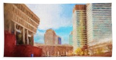 City Hall At Government Center Beach Towel