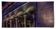 City Hall At Night Beach Sheet