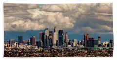 City In The Clouds Beach Towel