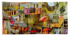 City Life  Beach Sheet by Nancy Kane Chapman