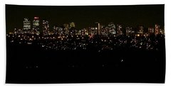 Beach Towel featuring the photograph City Light by Kelly Mills