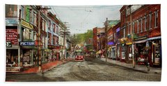 Beach Towel featuring the photograph City - Ma Glouster - A Little Bit Of Everything 1910 by Mike Savad