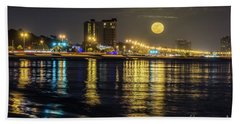 Beach Sheet featuring the photograph City Moon by Brian Wright