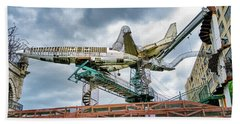 City Museum Outdoor Sculpture Beach Towel