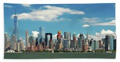 Beach Towel featuring the photograph City - New York Ny - The New York Skyline by Mike Savad