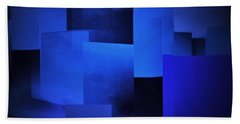 Night In The City Of Blues Beach Towel by John Krakora
