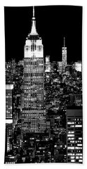 City Of The Night Beach Towel by Az Jackson