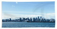 City Of Vancouver From The North Shore Beach Towel