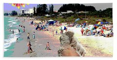 City On The Gluf Beach Towel by Charles Shoup