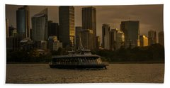 Beach Towel featuring the photograph City Skyline  by Andrew Matwijec