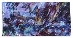 City Storm Abstract Beach Towel
