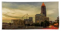 City Sunset Beach Towel