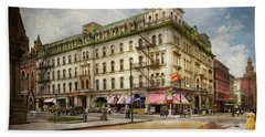 Beach Towel featuring the photograph City - Toledo Oh - Got A Boody Call 1910 by Mike Savad