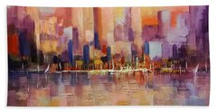 Cityscape 2 Beach Towel