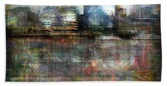 Cityscape #33. Silent Windows Beach Towel