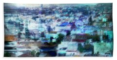 Cityscape #41 - Blue Whispers Beach Sheet