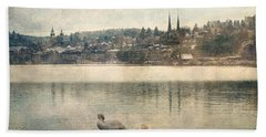 Cityscape Of Lucerna Beach Towel