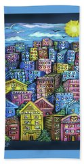Cityscape Sculpture Beach Towel