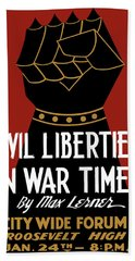 Civil Liberties In War Times - Wpa Beach Towel
