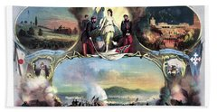 Civil War 14th Regiment Memorial Beach Towel