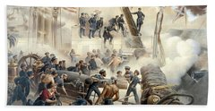 Civil War Naval Battle Beach Towel