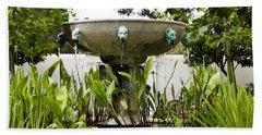 Civit Head Fountain Getty Villa Malibu California Beach Towel